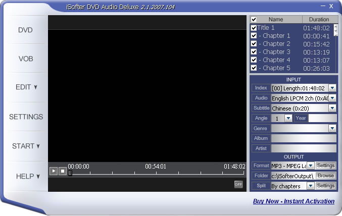 iSofter DVD Audio Ripper Deluxe is an easy used dvd audio ripping tool